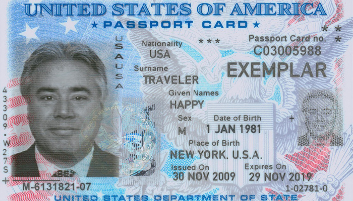 Thẻ hộ chiếu Mỹ